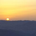 La foto: Monte Ruvolo al crepuscolo