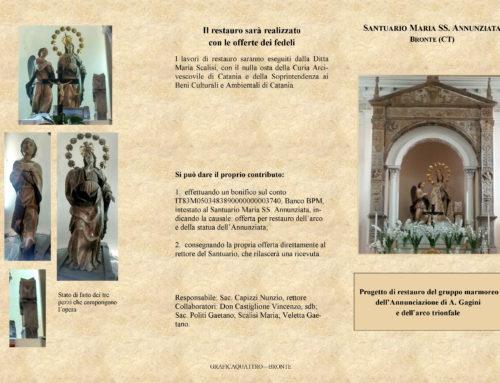 Statua della Madonna Annunziata: partita la raccolta fondi per il restauro
