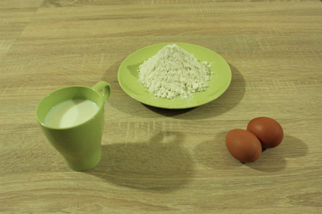 Fase 1 Ingredienti crepes