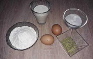 Ingredienti per la crema al pistacchio