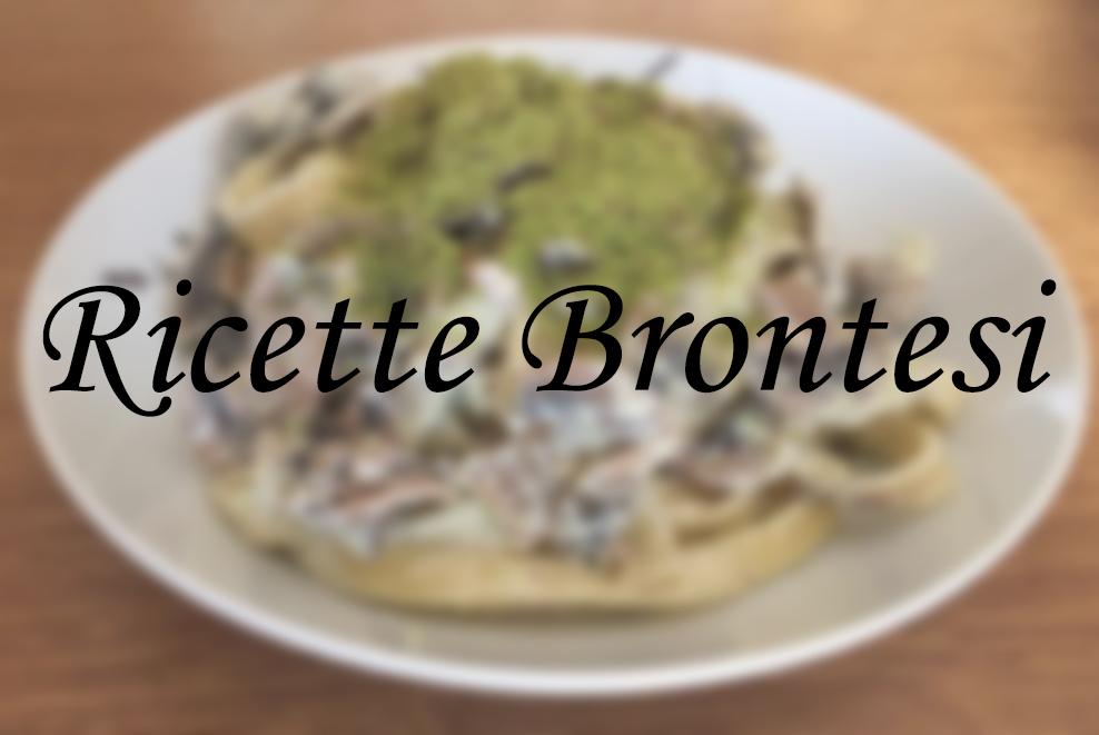 Ricette brontesi: Tagliatelle funghi, prosciutto e pistacchio